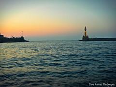 ,  (braziliana13) Tags: sunset sea lighthouse seaside outdoor greece crete oldport oldcity   greekisland      chnia    greeksky