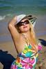 Maya's Photoshoot (cgambarrotti) Tags: portrait woman sexy beach girl smile lens pretty florida beercan fortlauderdale swimsuit bathingsuit 70200mm minoltaaf sonya300