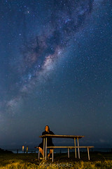 Look up, you don't know what you're missing! (nightscapades) Tags: longexposure sky beach night stars coast timelapse bush sydney australia galaxy astrophotography astronomy nightscapes milkyway selfie garie royalnationalpark gariebeach galacticcore