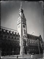 Hamburg City Hall (cinder85212) Tags: blackandwhite bw architecture germany jane hamburg monochromatic triplecrown iphoneonly hipstamatic dtypeplate