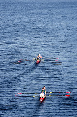 Rowing on the Charles (alohadave) Tags: sky water boston river unitedstates massachusetts charlesriver places northamerica clearsky allston smcpda55300mmf458ed pentaxk5