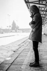 (gilbertotphotography.blogspot.com) Tags: boy italy snow man cold ice train book italia libro railway uomo railwaystation piemonte neve cuneo piedmont treno ghiaccio coldness