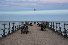 Swanage Banjo Pier (sarah_presh) Tags: sea evening coast pier april benches swanage banjopier nikond750