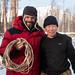 Vladimir nos presenteou com seu laço de pele de rena