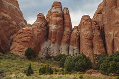standing tall (cherryspicks) Tags: usa rock landscape utah rocks desert outdoor arches tall rockformation