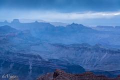 Praying for a sunset . . . (Dr. Farnsworth) Tags: blue sunset arizona mist rain clouds dark spring dusk grandcanyon az bluehour ng nationalgeographic april2016