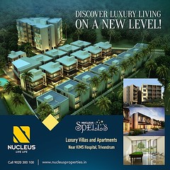 Discover luxury living on a new level with Nucleus Spells - luxury villas and apartments near KIMS Hospital, Trivandrum!  Visit us on www.nucleusproperties.in  #Kerala #Kochi #India #Trivandrum #Architecture #Home #Construction #City #Elegance #Environmen (nucleusproperties) Tags: life city india building home nature beautiful beauty architecture design living construction realestate view apartment interior gorgeous lifestyle style atmosphere kerala villa environment elegant exquisite comfort luxury kochi trivandrum elegance