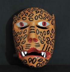 Tigre Jaguar Mask Zapotec Oaxaca (Teyacapan) Tags: cat mexico mexican masks jaguar tigre oaxacan zapoteco mascarasmexicanas tavehua