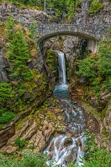 Serene Christine (Philip Kuntz) Tags: waterfall washington falls rainier mtrainiernationalpark christinefalls notanhdr glacialwaters vantrumpcreek vantrumpglacier