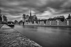 Notre Dame, Paris B + W (Mattia Pianca) Tags: city sky white black paris primavera church water seine skyline architecture clouds river spring nikon europa europe long exposure nuvole angle cathedral 10 fiume wide wideangle tourist notredame chiesa cielo e 400 nd 24 nikkor notre dame drama tamron acqua grandangolo bianco nero senna architettura density citt hoya parigi lunga esposizione cattedrale turista 1024 neutral 10mm 2016 nd400 d90 exposur skydrama tamron1024