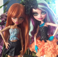"Monster High Clawdeen & After Ever High Madeline 17"" by Rogue Lively (Amethyst Violet) Tags: monster by high hobby 17 after bjd rogue madeline ever abjd collectibles lively clawdeen"
