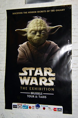Pster de Star Wars The Exhibition - Brussels (laap mx) Tags: brussels mars poster march starwars europa europe yoda belgium belgique bruxelles exhibition bruselas 2008 brussel belgica bruxelas marzo cartel exposicion tourtaxis