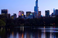 Colorful at Twilight (Lojones13) Tags: lake water colors skyline architecture lights cityscape outdoor dusk newyorkmanhattan