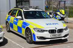 South Yorkshire Police BMW 330d Touring Roads Policing Unit Traffic Car (PFB-999) Tags: car estate traffic south yorkshire police bmw vehicle leds roads touring grilles unit 3series rpu lightbar policing syp 330d fendoffs yr63uot