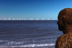 """What Giants?"" (The Renaissance) Tags: beach liverpool windmills mersey crosby turbines antonygormley anotherplace"