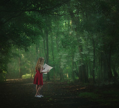An unexpected discovery (Deltalex.) Tags: trees portrait woman girl forest landscape treasure map fineart sydney australia conceptual discovery spiderwebs fineartphotography conceptualphotography deltalex madelinemasarik alexbenetel