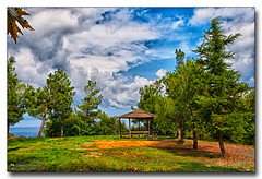 20151002_130931 (gabrielpsarras) Tags: blue autumn sky cloud brown mountain tree green nature grass rural plane landscape view horizon country hill olympus greece fir pavilion outlook olympos touristic planetree