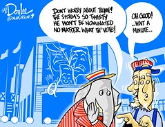 0416 quicken convention cartoon (DSL art and photos) Tags: cleveland presidential convention donaldtrump republican nomination editorialcartoon delegates quickenloansarena donlee