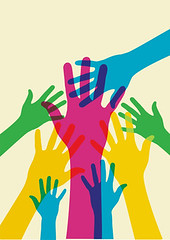 helping hands (healthconnect2016) Tags: world charity red people color green love silhouette yellow illustration fun person hope togetherness democracy team rainbow hands community education colorful peace graphic earth finger background united unity fingers crowd group diversity meeting communication help human together learning concept ethnic vector global teamwork agreement