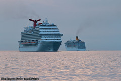 Carnival Vista & Costa Mediterranea (Carletto470) Tags: carnival sea italy costa mediterraneo italia ship vista trieste adriatic golfo adriatico mediterranea fincantieri veesel