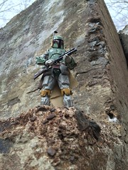 You can run but he will find you. (chevy2who) Tags: 6 black toy star starwars inch action figure bobafett series boba wars hasbro fett starwarsblackseries