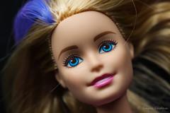 Barbie is my model! (EighteenPercentGray) Tags: portrait macro smile face kids canon children model doll shot head barbie headshot 100mm t3i