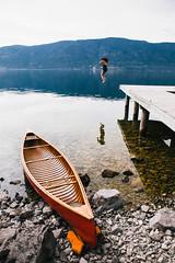 Okanagan Lake (ben giesbrecht) Tags: lake canada landscape outdoors okanagan canoe canvas explore cedar
