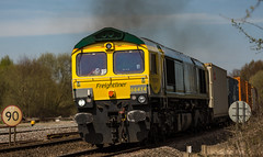 Freightliner 66414 at Clay Cross on 21-04-2016 with the Leeds to Southampton Intermodal (kevaruka) Tags: railroad light england sun color colour green art colors sunshine yellow composition train canon geotagged outdoors photography eos boat spring europe flickr day colours afternoon cross outdoor derbyshire vivid rail railway sunny trains front 66 class telephoto clay page april vehicle 5d british network freight springtime lightroom hst mk3 2016 freightliner ef100400 railfreight f4556l gbrf 66414 66711 tupton 5d3 5diii 21042016