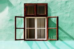 Sighisoara Windows 6 (PM Kelly) Tags: street travel windows light abstract color colour green art window ventana one romania frame sighisoara shutter lime dwwg