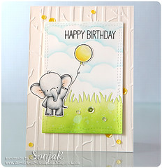 Elefantse Geburtstagsgre (sonjak_theartofstamping) Tags: card birthdaycard myfavoritethings luminance geburtstagskarte cardmaking distressinks wermemorykeepers lawnfawn