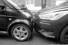 Love Story (Jean-Luc Lopoldi) Tags: street bw cars kiss noiretblanc parking humour voiture rue baiser stationnement