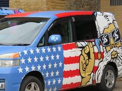 UK - London - Lambeth - Decorative car (JulesFoto) Tags: uk england london car lambeth ramblers capitalwalkers