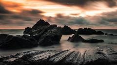 The beginning of spring (Luis Sousa Lobo) Tags: ocean santa longexposure sunset praia beach portugal clouds canon mar rocks atlantic prdosol cruz nuvens pedras oceano atlntico 2470 70d