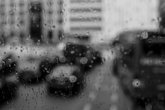 Traffic (mripp) Tags: city urban white black art cars rain weather mobile mono moving traffic kunst sony stadt autos monochrom jam stau a7 regen mobility supertacumar