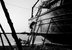 Labour Day (1/4th) Tags: street blackandwhite bw india monochrome boats nikon harbour d750 worker highkey nikkor mayday chennai tamilnadu labourday boatyard cwc internationalworkersday  royapuram kasimedu  2470mmf28g nikon2470mmf28 chennaiweekendclickers royapuramfishingharbour kasimedufishingharbour  kasimeduharbour uzhaipalardhinam cwc526