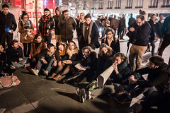 "8me nuit d'occupation de la Place de la Rpublique par le collectif ""Nuit debout"" - Paris, 7 avril 2016 (ND_Paris) Tags: jeunesse revolution greve manif manifestation megaphone occupation jeune occupy revolte nuitdebout"