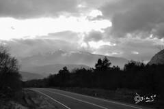 Raggiungerti...... (Biagio ( Ricordi )) Tags: road bw italy nuvole montagna trentino