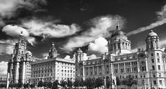 The Three Graces (Fields of View) Tags: liverpool mono graces iphone