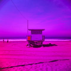 ave 26. venice beach, ca. 2016. (eyetwist) Tags: ocean california blue venice light red sky seascape tower 120 6x6 mamiya film beach water analog mediumformat square 50mm la losangeles los saturated sand fuji purple pacific angeles magenta violet slide prince lifeguard ishootfilm velvia pacificocean socal filter chrome transparency venicebeach 100 analogue mamiya6 polarizer polarized phase e6 rb redblue baywatch linear hoya pl emulsion rvp fujivelvia100 primes spiratone angeleno oceanfrontwalk eyetwist 6mf mamiya6mf colorflow 26thavenue ave26 epsonv750pro mamiya50mmf4 recentlyprocessedfilm filmexif filmtagger eyetwistkevinballuff iconla