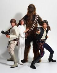 Heroes (MiskatonicNick) Tags: starwars princess 16 lukeskywalker chewbacca leia hansolo hottoys sixthscale