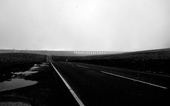 All i got to do,is think of you. (plot19) Tags: road bridge england blackandwhite snow black english landscape photography blackwhite britain sony yorkshire north viaduct british northern dales ribblehead rx100 plot19