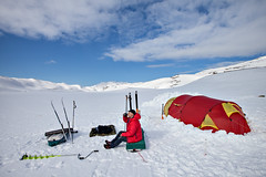 Backcountry morning coffee (Espen rud) Tags: morning winter camp snow ice coffee norway outdoors norge fishing iso400 tent backcountry espen finnmark f13 helsport ef1635mmf28liiusm geocity camera:make=canon exif:make=canon canoneos5dmarkii geocountry camera:model=canoneos5dmarkii fjellpulken rud geostate exif:model=canoneos5dmarkii exif:lens=ef1635mmf28liiusm exif:aperture=13 exif:isospeed=400 exif:focallength=16mm geo:lat=70276853333333 geo:lon=23774586666667 backcountrymorningcoffee nowifigreatconnection liveterbedreute