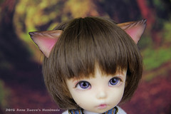 Wolf ears for tiny (AnnaZu) Tags: wolf doll ears fimo clay sculpey bjd fairyland cernit ante polymer balljointeddoll headpieces headparts pukifee fantasyparts annaku vesnushkahandmade annazu