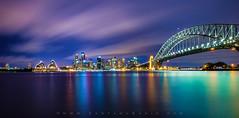 Sydney City (Santanu Banik) Tags: city longexposure reflections cityscape sydney australia nsw bluehour operahouse harbourbridge northsydney sydneyharbour sydneyoperahouse sydneyharbourbridge kirribilli ndfilter bigstopper leebigstopper kirribilliwaterfront