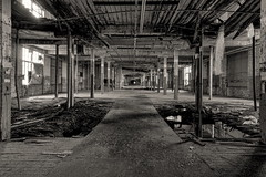 Walk The Plank If Ye Dare (95wombat) Tags: wood old bw newyork rot mill abandoned monochrome industrial factory decay hdr deathtrap rotted