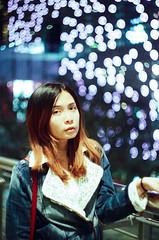 Fantasy X'mas (Mr.Sai) Tags: portrait girl night analog silver movie minolta kodak taiwan m42 taipei f2 58mm 44 helios 信義區 x700 cinefilm m39 250d 5207 膠卷 電影底片 菲林 ecn2 高雄自由沖掃