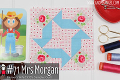 gnomeangel-farmers-wife-1930-block-71-mrs-morgan-fqs (gnomeangel) Tags: modern quilt quilting patchwork tutorial farmerswife fussycutting gnomeangel fussycuttersclub farmerswife1930