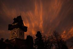 141223_Schloßberg_123 (Rainer Spath) Tags: sunset dawn austria evening abend österreich sonnenuntergang dämmerung graz steiermark autriche styria autofocus uhrturm schlosberg infinitexposure