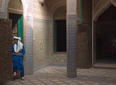 Restored interior, El Glaoui Kasbah (nisudapi) Tags: architecture tile pattern mosaic morocco kasbah 2015 telouet elglaoui
