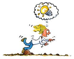 heureka-moment-falling-over-stone-innovation-girl-color-illustration-by-frits-ahlefeldt (Frits Ahlefeldt, Hiking.org) Tags: lightbulb creativity idea creative falling innovation blondgirl designthinking hikingartist fritsahlefeldt trippingoverstone